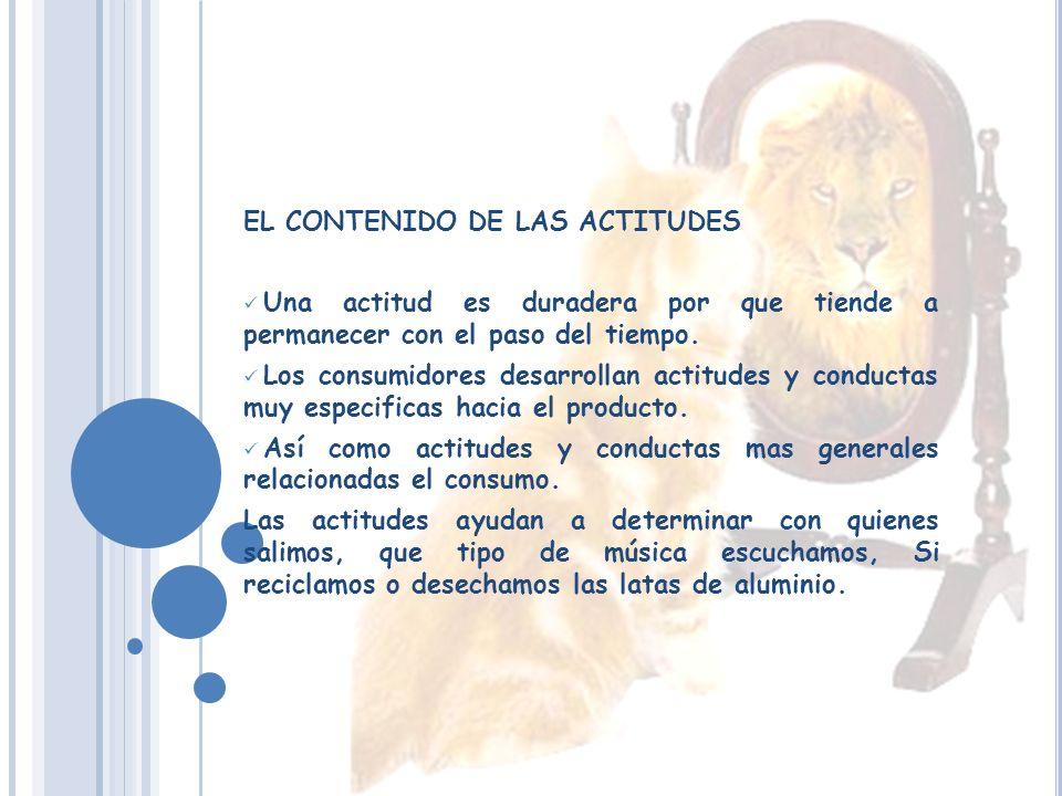 EL CONTENIDO DE LAS ACTITUDES