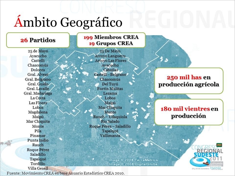 250 mil has en producción agrícola 180 mil vientres en producción