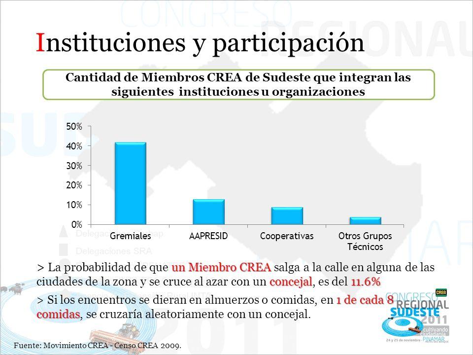 Instituciones y participación