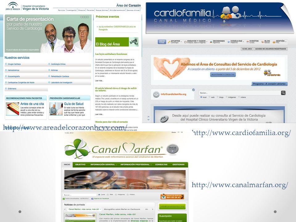 http://www.areadelcorazonhcvv.com/ http://www.cardiofamilia.org/ http://www.canalmarfan.org/