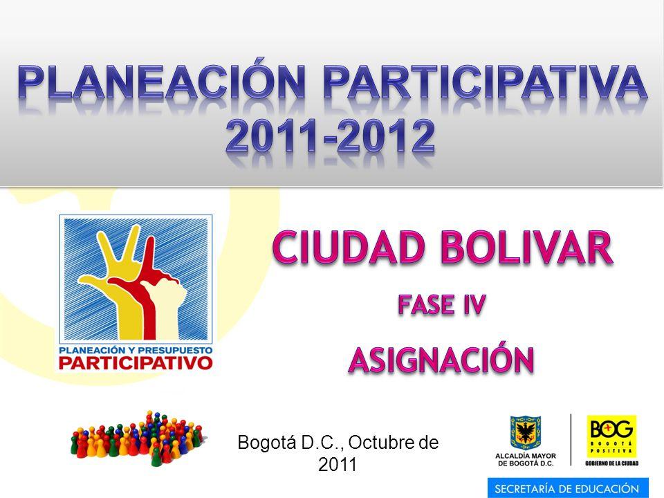 PLANEACIÓN PARTICIPATIVA 2011-2012