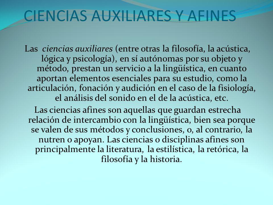 CIENCIAS AUXILIARES Y AFINES