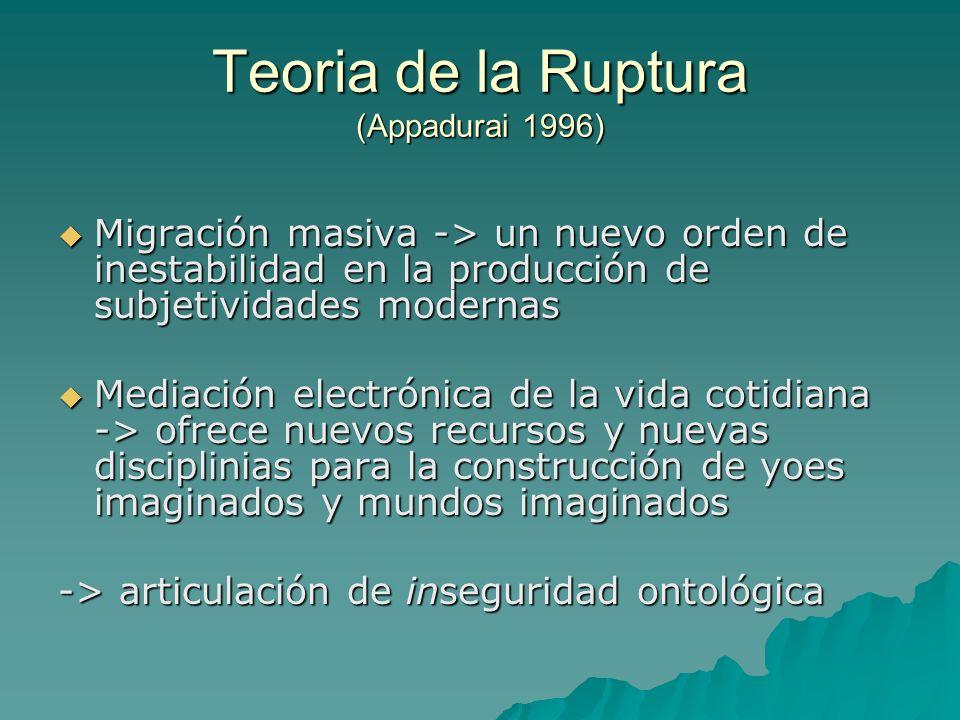 Teoria de la Ruptura (Appadurai 1996)