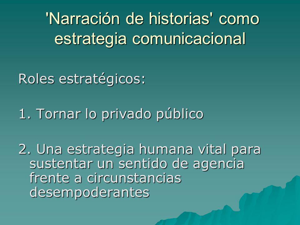 Narración de historias como estrategia comunicacional