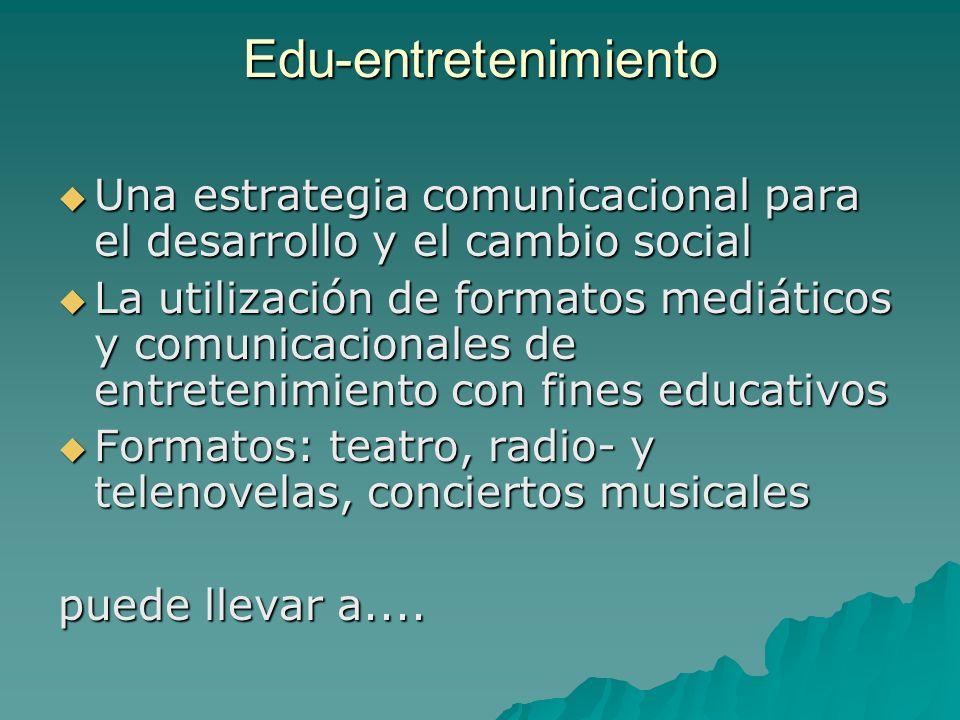 Edu-entretenimiento Una estrategia comunicacional para el desarrollo y el cambio social.