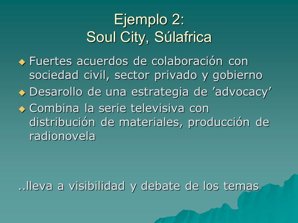 Ejemplo 2: Soul City, Súlafrica