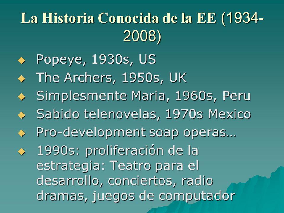 La Historia Conocida de la EE (1934-2008)