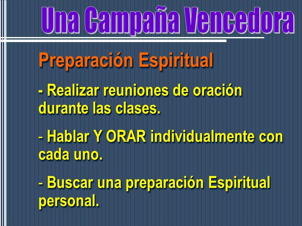 Preparación Espiritual