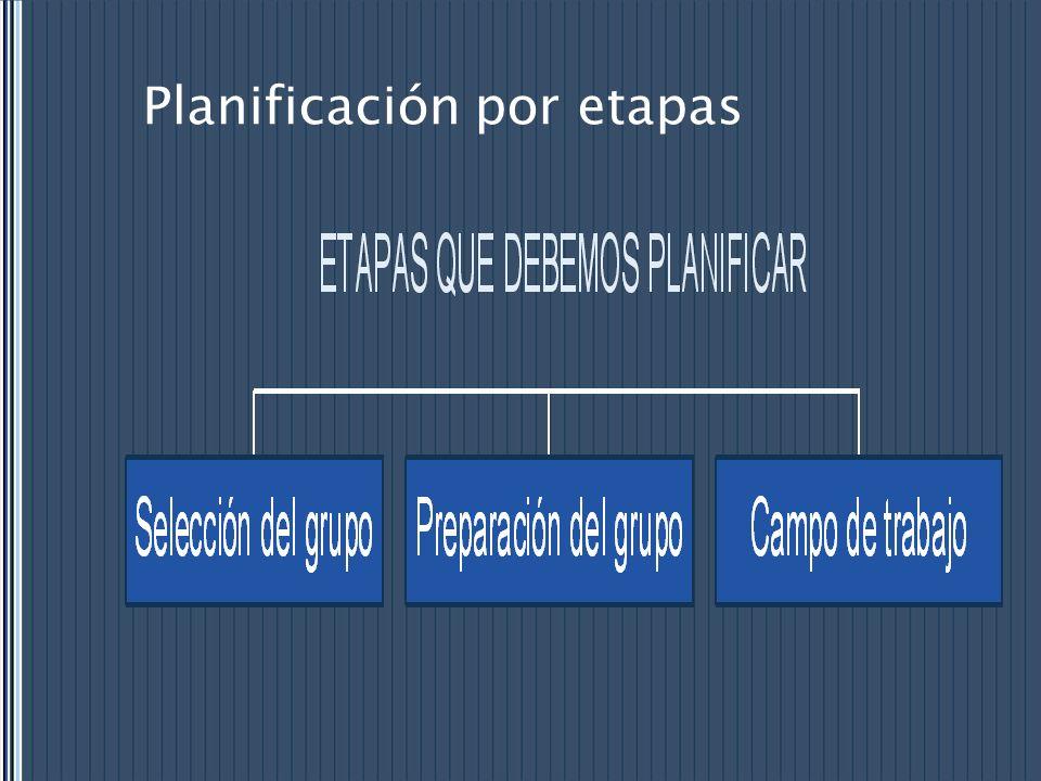 Planificación por etapas