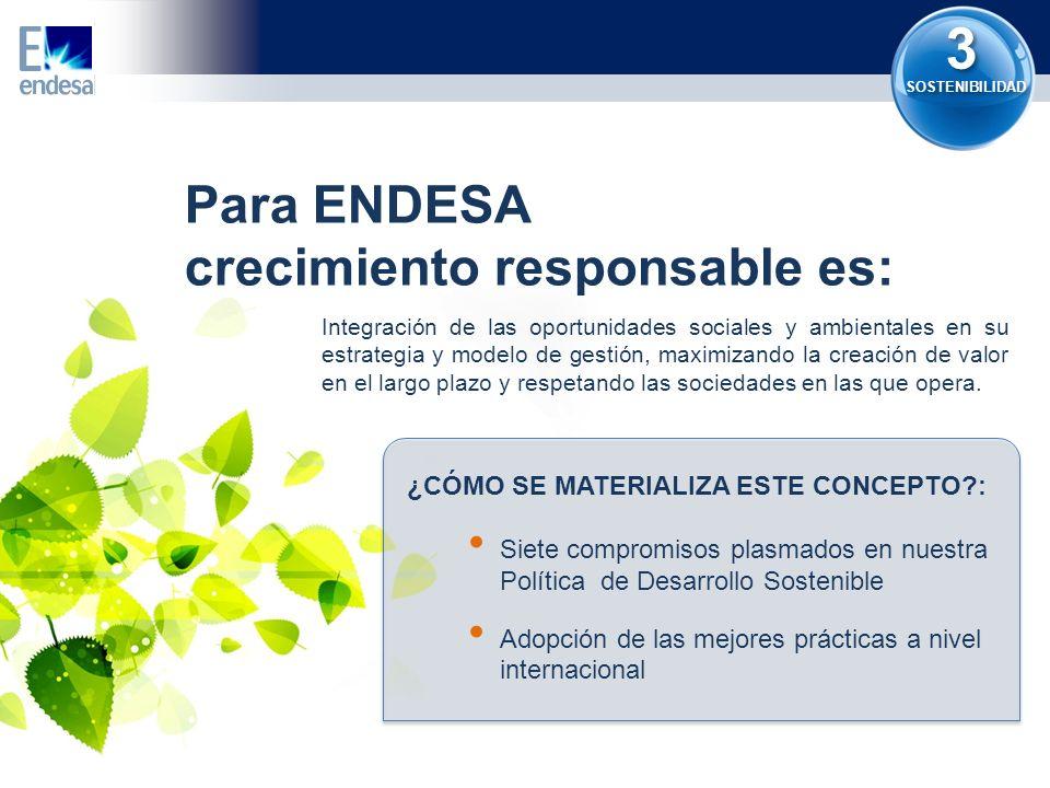 3 Para ENDESA crecimiento responsable es: