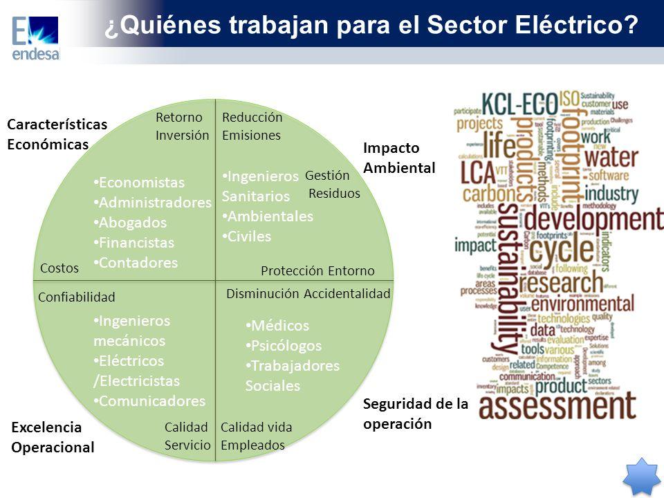 ¿Quiénes trabajan para el Sector Eléctrico
