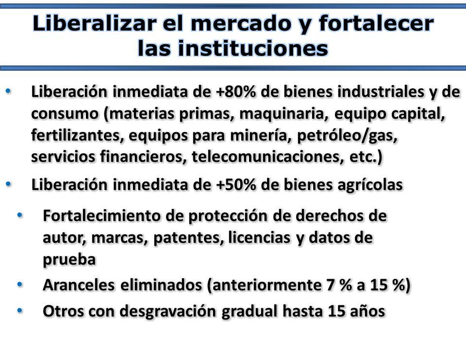 Liberalizar el mercado y fortalecer las instituciones