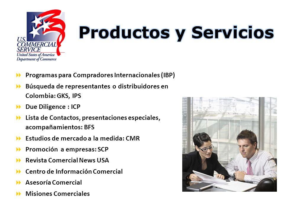 Productos y Servicios Programas para Compradores Internacionales (IBP)