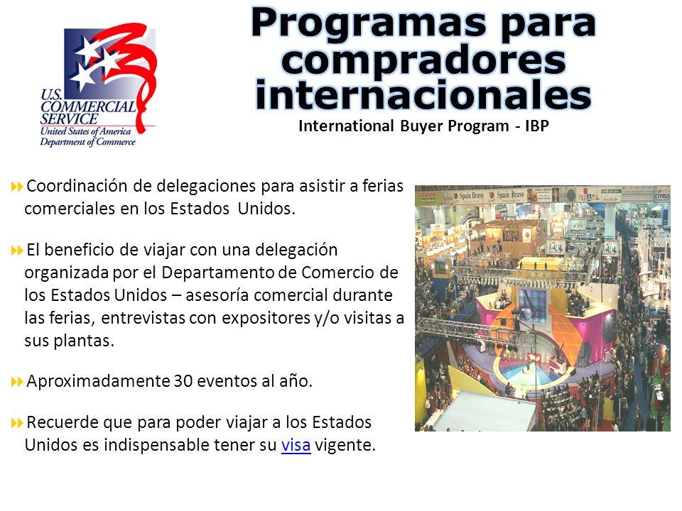 Programas para compradores internacionales International Buyer Program - IBP