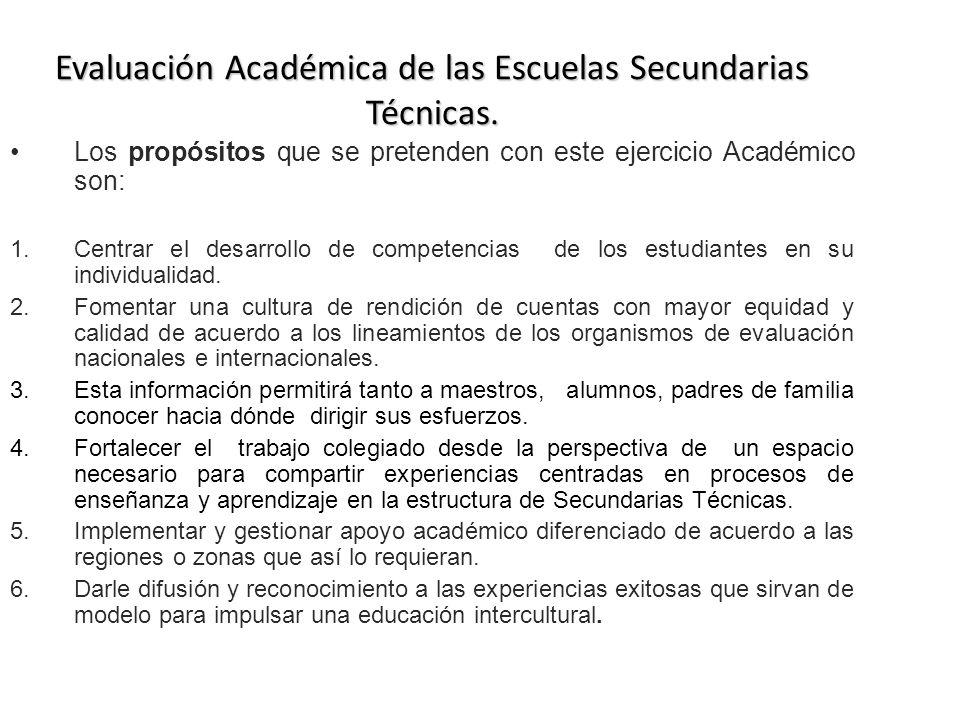 Evaluación Académica de las Escuelas Secundarias Técnicas.