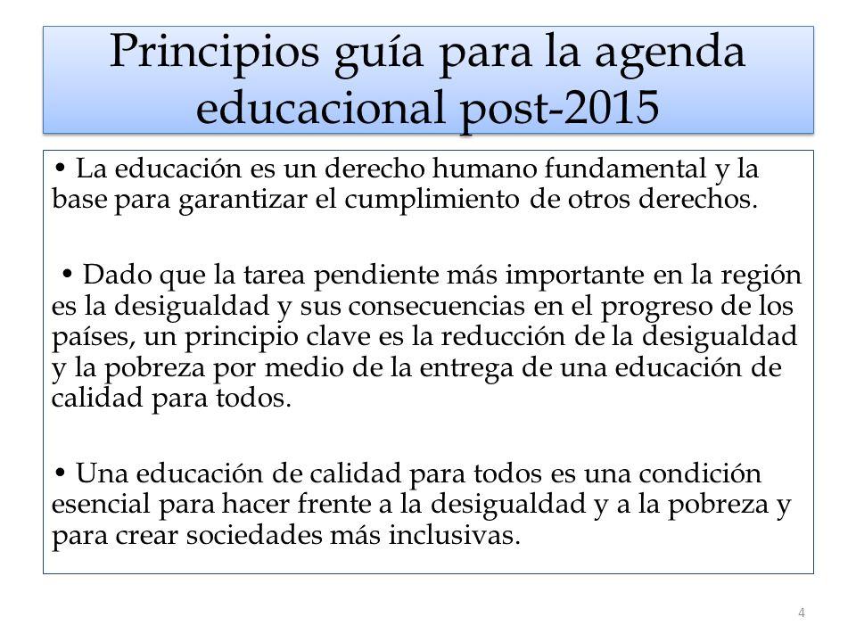 Principios guía para la agenda educacional post-2015