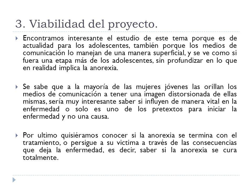 3. Viabilidad del proyecto.