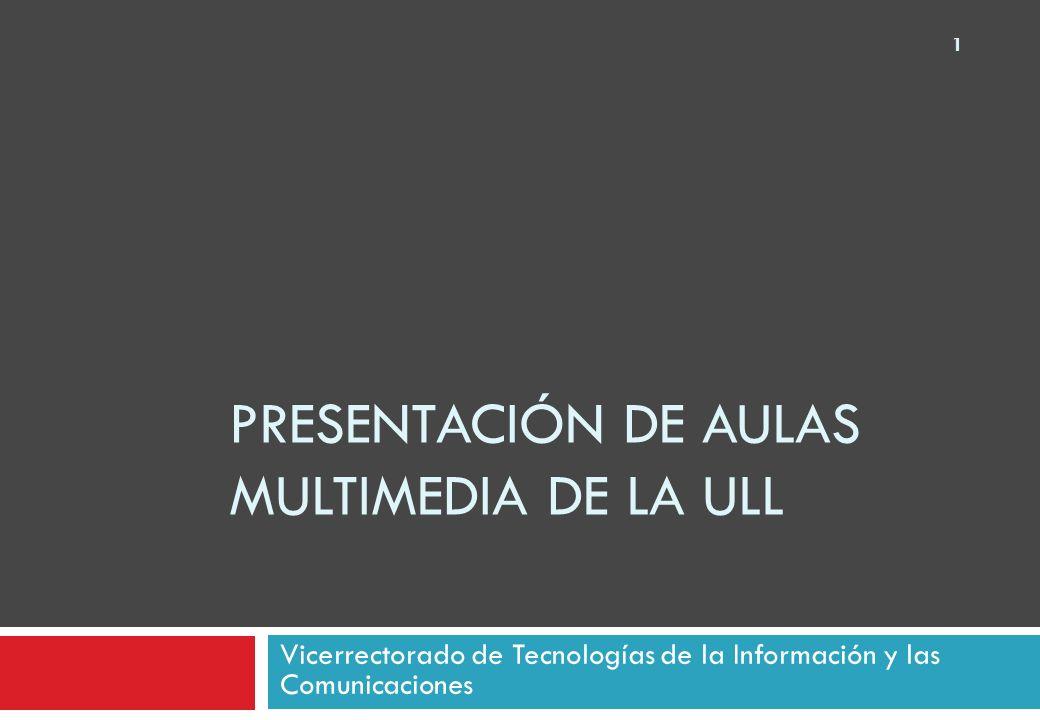 Presentación de aulas multimedia de la ULL