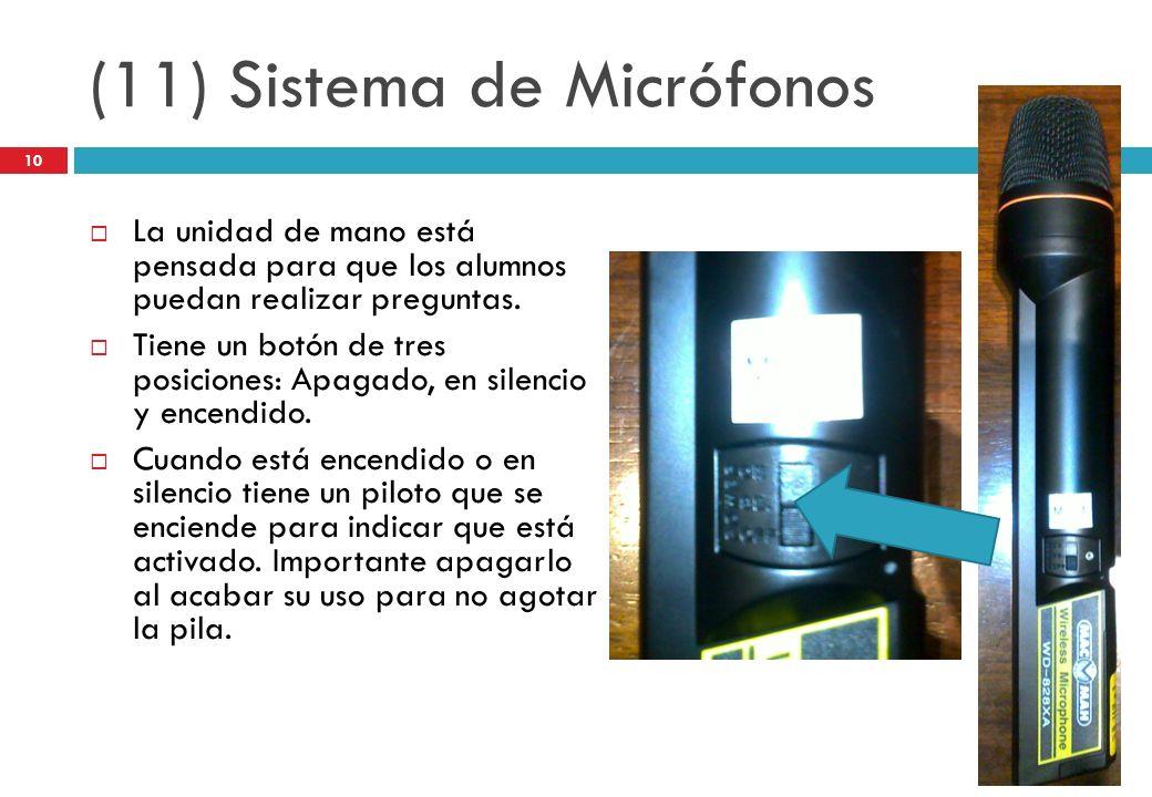 (11) Sistema de Micrófonos