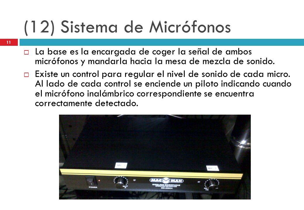 (12) Sistema de Micrófonos