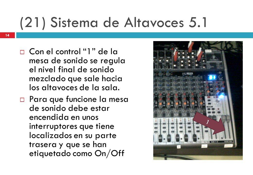 (21) Sistema de Altavoces 5.1