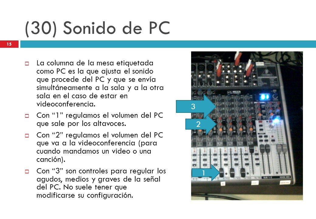 (30) Sonido de PC