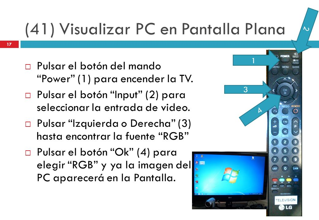 (41) Visualizar PC en Pantalla Plana