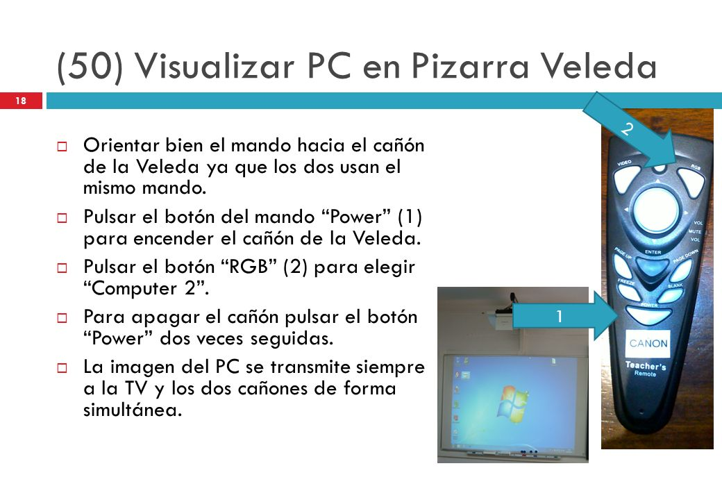 (50) Visualizar PC en Pizarra Veleda
