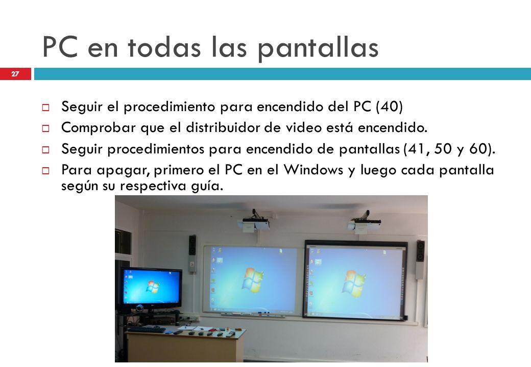 PC en todas las pantallas
