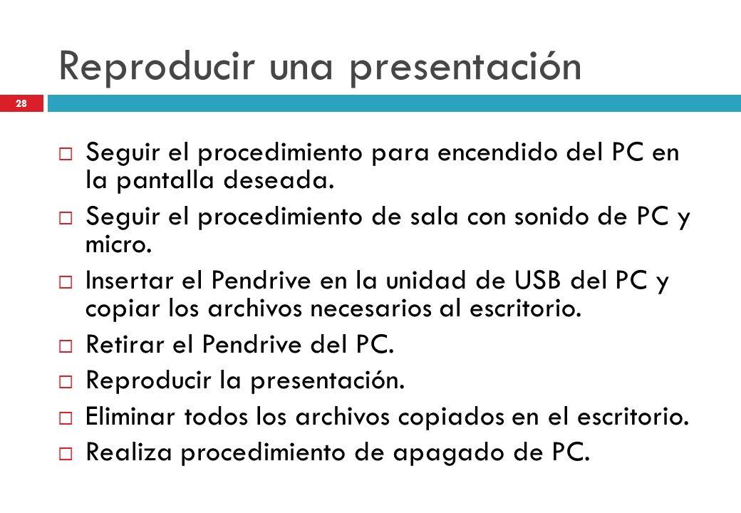 Reproducir una presentación