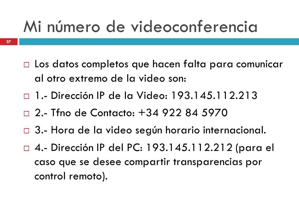 Mi número de videoconferencia