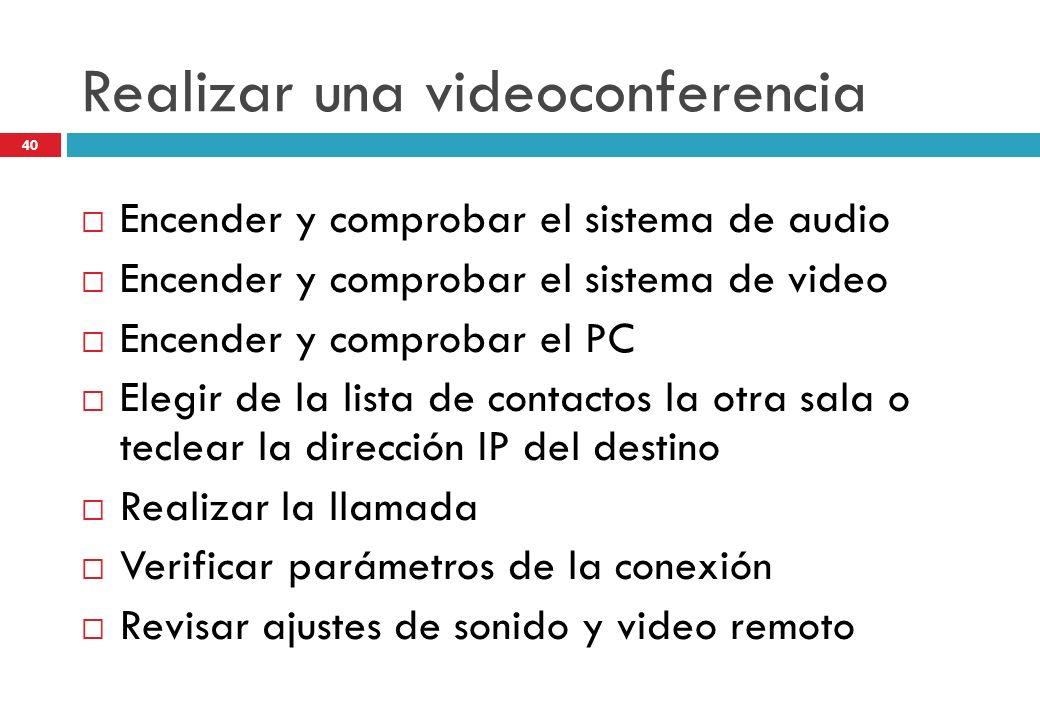 Realizar una videoconferencia