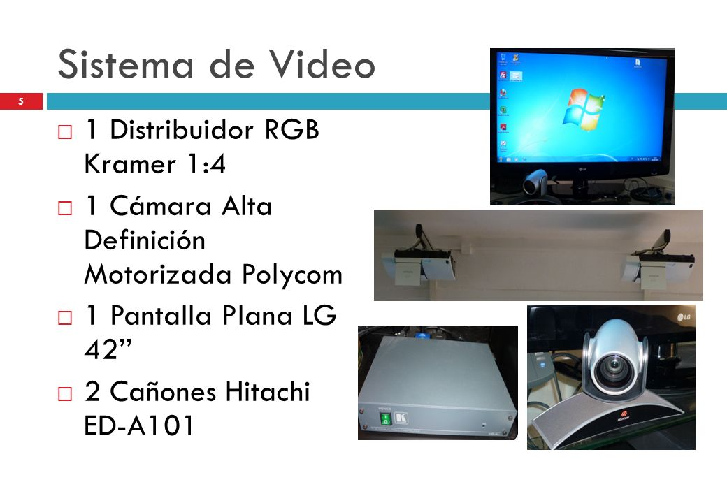 Sistema de Video 1 Distribuidor RGB Kramer 1:4