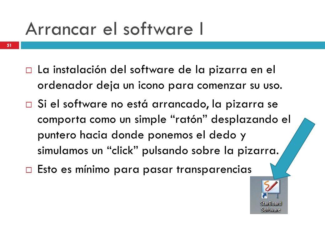 Arrancar el software I La instalación del software de la pizarra en el ordenador deja un icono para comenzar su uso.