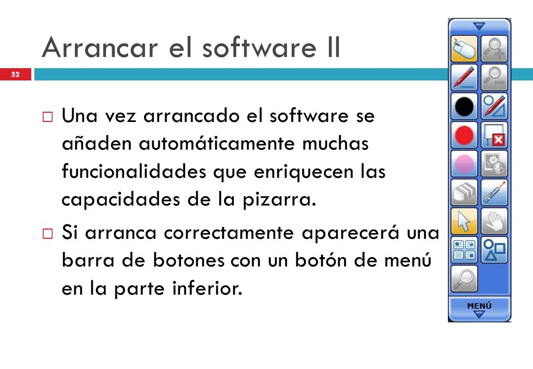 Arrancar el software II