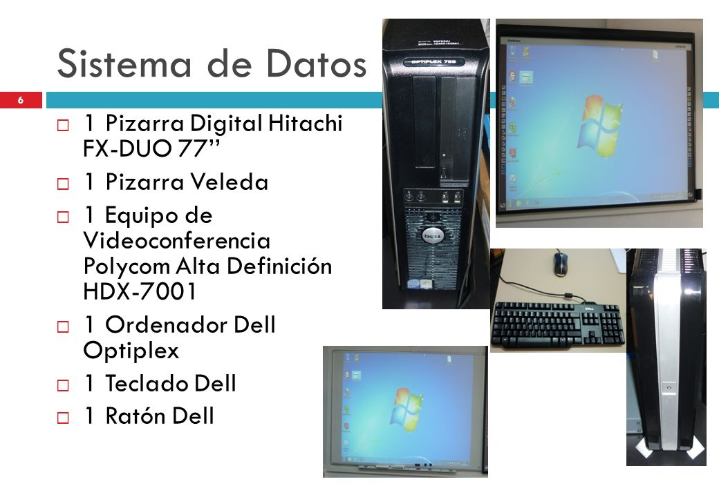 Sistema de Datos 1 Pizarra Digital Hitachi FX-DUO 77''