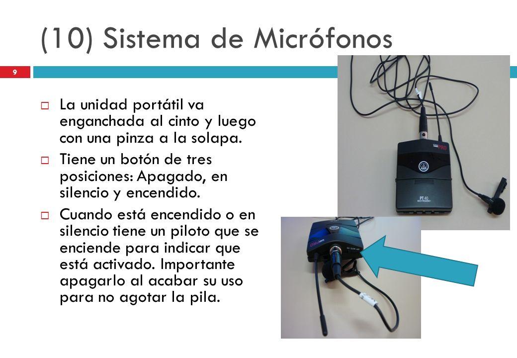 (10) Sistema de Micrófonos