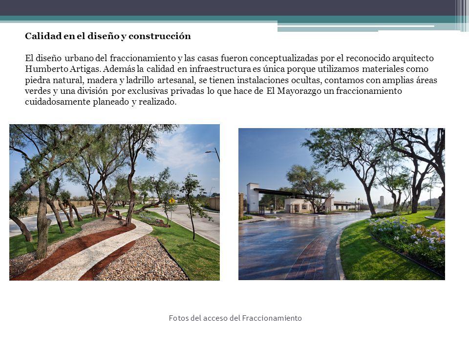 Fotos del acceso del Fraccionamiento