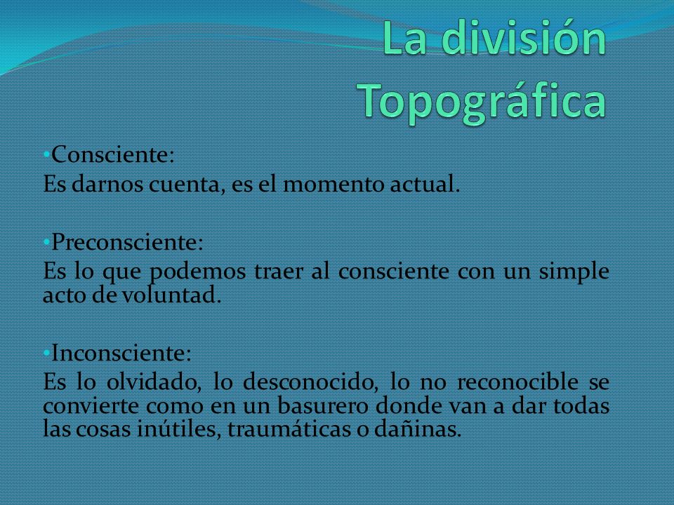 La división Topográfica