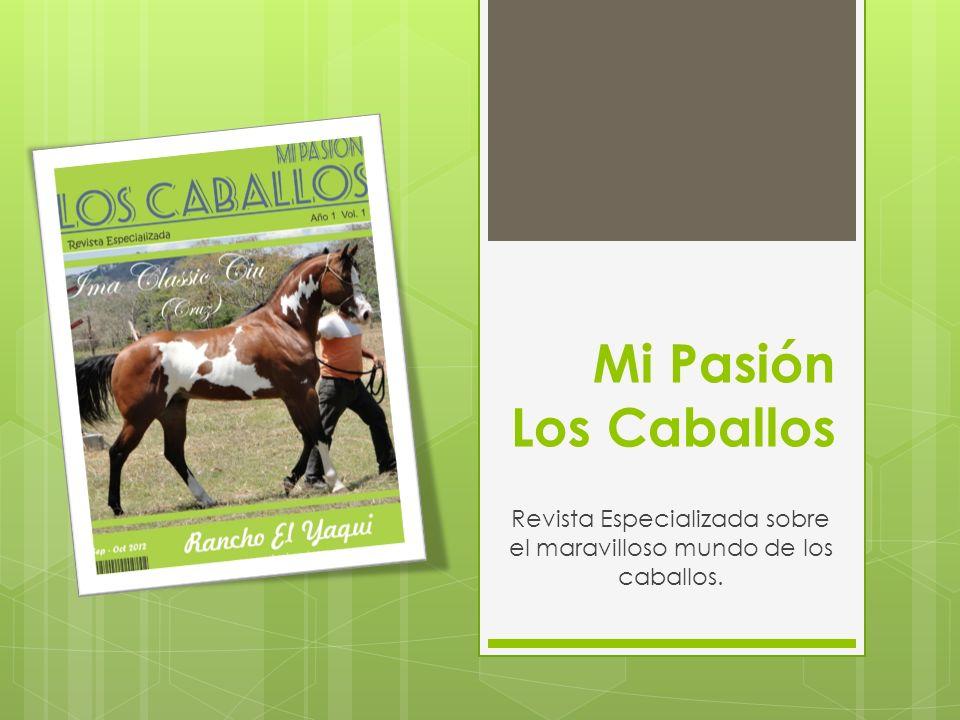 Revista Especializada sobre el maravilloso mundo de los caballos.