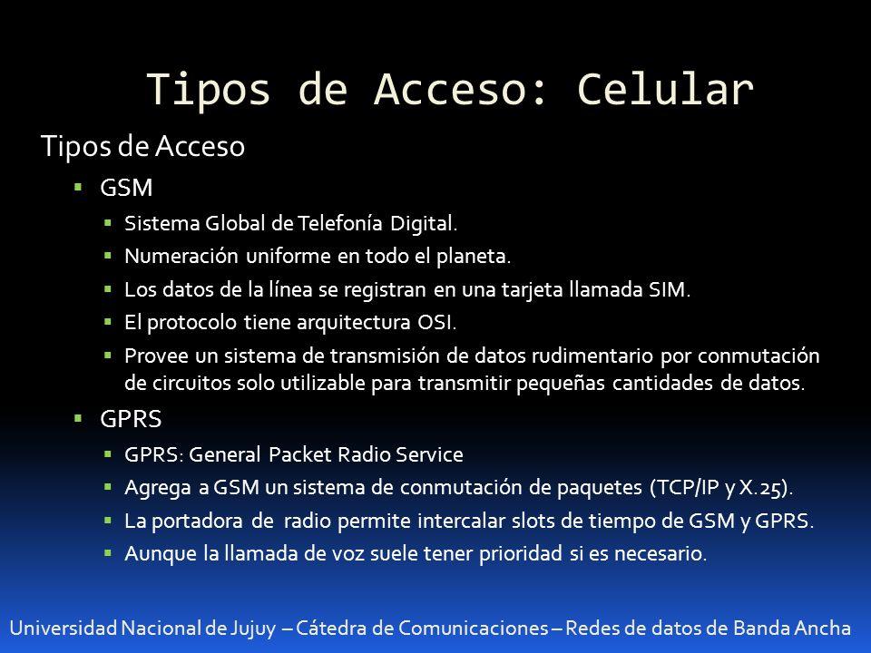 Tipos de Acceso: Celular