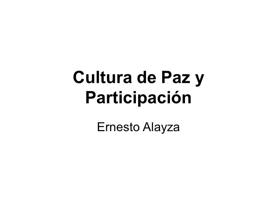 Cultura de Paz y Participación