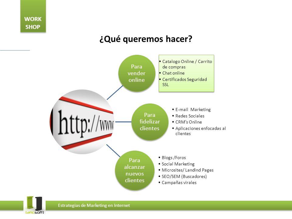 ¿Qué queremos hacer Catalogo Online / Carrito de compras Chat online