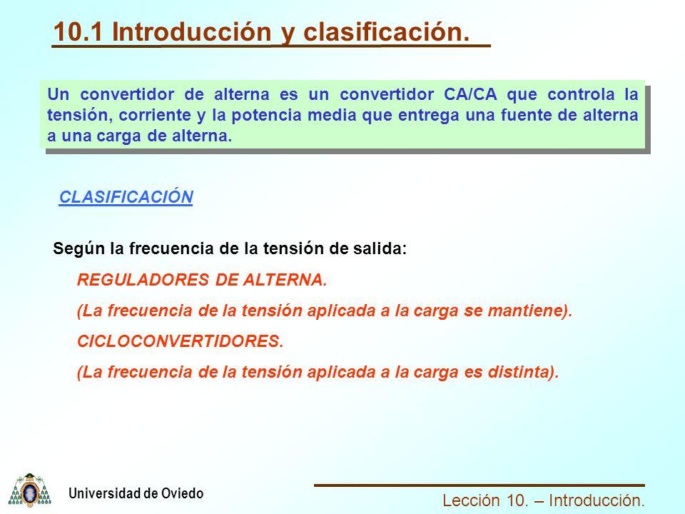 10.1 Introducción y clasificación.