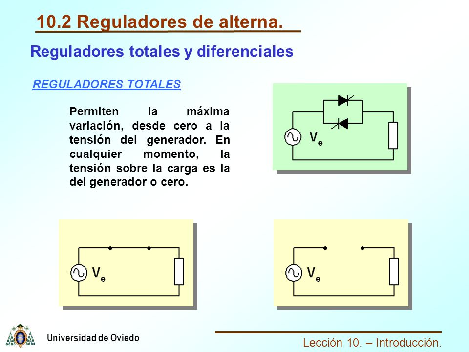 10.2 Reguladores de alterna.