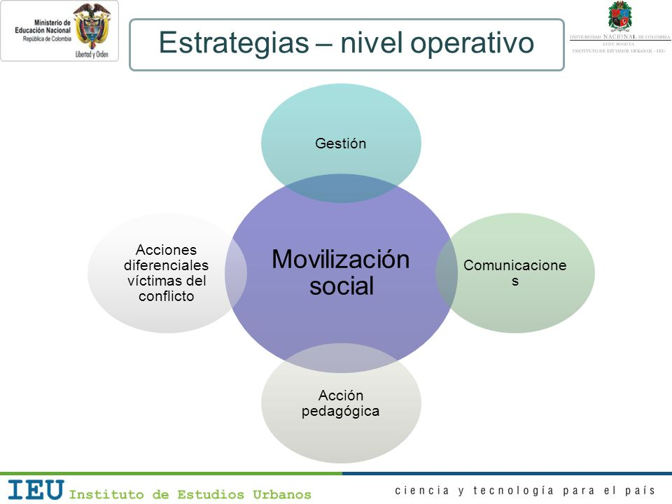 Estrategias – nivel operativo