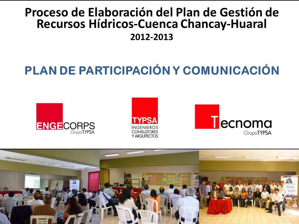 PLAN DE PARTICIPACIÓN Y COMUNICACIÓN