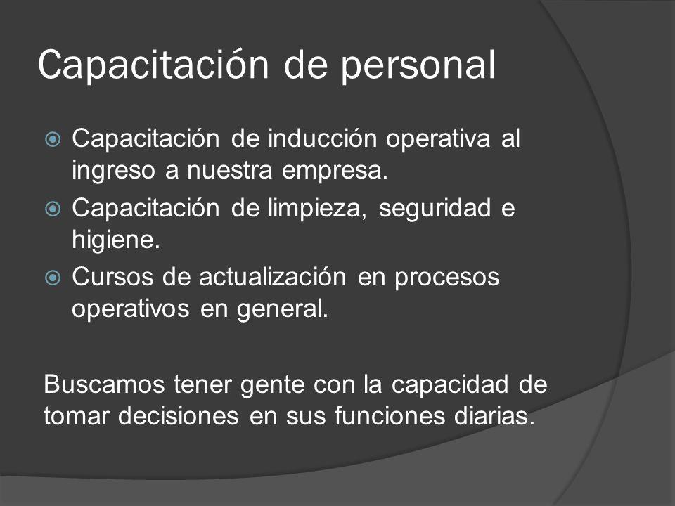 Capacitación de personal