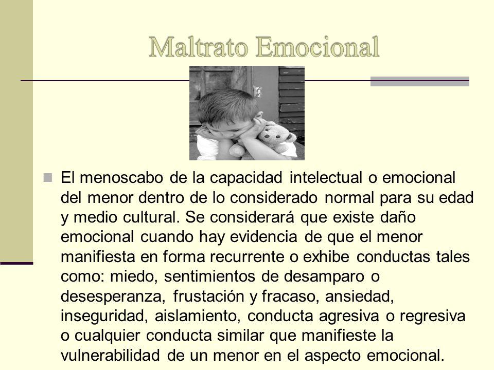 Maltrato Emocional