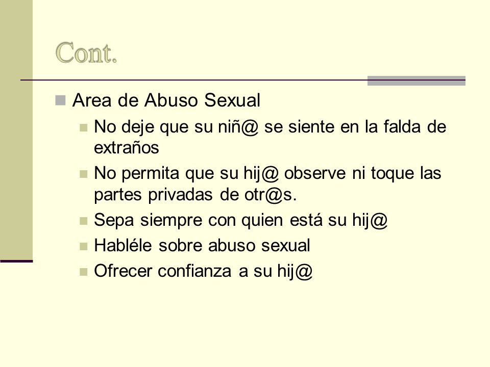 Cont. Area de Abuso Sexual